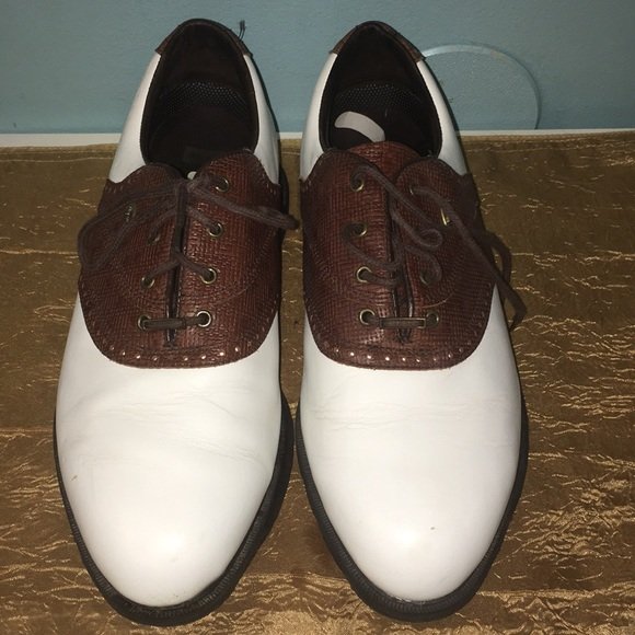 Etonic White And Brown Mens Golf Shoes